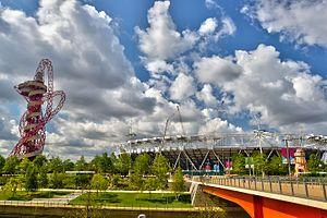 ArcelorMittal Orbit - Arcelormittal Orbit and Olympic stadium