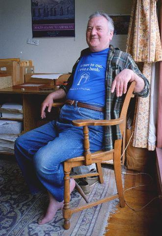 Archie Green - Archie Green at home, ca. 1993; photograph by Hazen Robert Walker