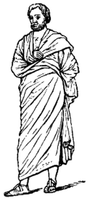 Pallium (Roman cloak) - Pallium over a chiton.