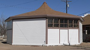 National Register of Historic Places listings in Otero County, Colorado - Image: Arkansas Valley Fairgrounds art bldg from SW 1