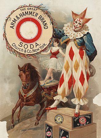 Arm & Hammer - Image: Arm & Hammer Brand Soda poster ca. 1900