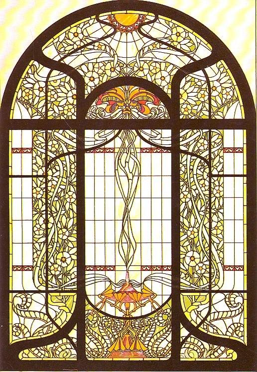 Arnold Lyongrün, Vorlage für ein Fenster im Jugendstil (Berlin und New York 1900)