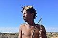 Arri Raats, Kalahari Khomani San Bushman, Boesmansrus camp, Northern Cape, South Africa (20350734340).jpg