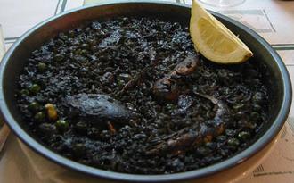 Arròs negre - Arròs negre with crab, shrimp and squid