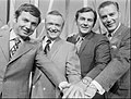 Art James Bob Clayton Jack Kelly Art Fleming NBC game show hosts 1970.JPG