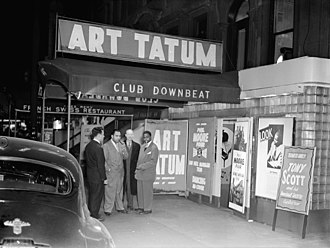 Art Tatum - Tatum (right) at Downbeat Club, New York City, c. 1947