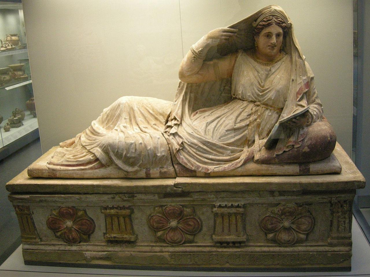 File:Arte etrusca, sarcofago di thanunia seianti, 150-130 ...