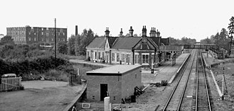Ashchurch for Tewkesbury railway station - The station looking north in 1969
