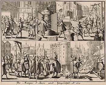 The arrest and murder of Marshal d'Ancre