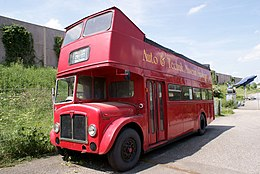 Associated Equipment Company AEC Regent V 1964 758 Doubledecker LSideFront SATM 05June2013 (14600653325).jpg