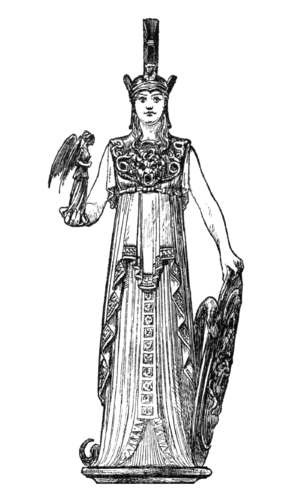 Drawing of Athena Parthenos