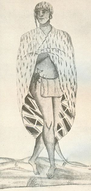 """History of the Galveston Bay Area - """"Sauvage en habit d'hiver"""" by Alexandre De Batz, 1735."""