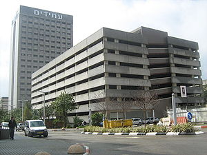 Kiryat Atidim - A parking building and an office tower