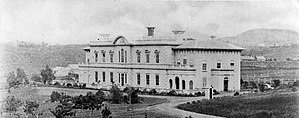 Capital of New Zealand - Auckland's third Government House, shown here in the 1860s or 1870s, is today known as Old Government House