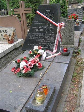 Emil August Fieldorf - Symbolic grave of August Emil Fieldorf at Powązki Cemetery