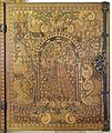 Augusta o tirolo, stipo da lavoro in legno di ciliegio con intarsi, 1550-1600 ca. 07 dama.jpg