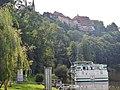 Ausblick vom 366 km langen Neckartalradweg auf Bad Wimpfen oberhalb vom Neckar - panoramio.jpg
