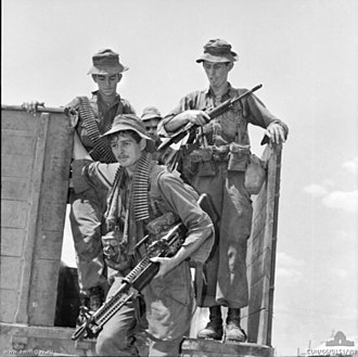 Battle of Suoi Bong Trang - Australian soldiers returning to Bien Hoa airbase following Operation Rolling Stone, late-February 1966.