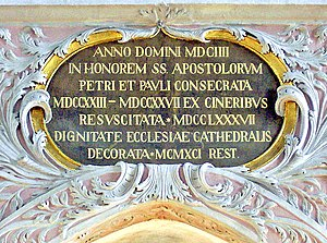 Anno Domini - Anno Domini inscription at a cathedral in Carinthia, Austria.
