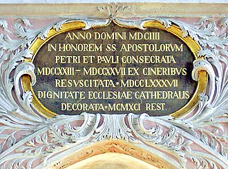 Anno Domini - Anno Domini inscription at Klagenfurt Cathedral, Austria.