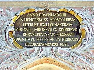 Anno Domini - Anno Domini inscription at Klagenfurt Cathedral, Austria.