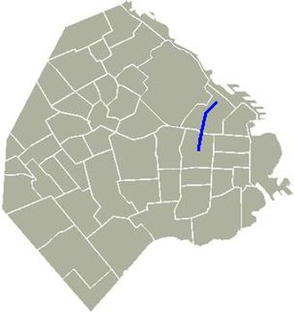 Avenida Pueyrredón - Location of Pueyrredón Avenue in Buenos Aires.