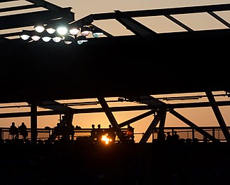 Avaya Stadium - Sunset during an Earthquakes match in 2017