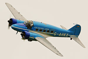 1946 in the United Kingdom - 1946 Avro Anson, now in the Shuttleworth Collection, 2013 photo.