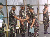 QC Reservists Receive Their Certificates From COL DANILO P GOMEZ QMS GSC PA 1302CDC Commanding Officer