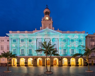 Town hall of Cádiz, Spain.