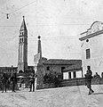 Az Osztrák-Magyar Monarchia katonái, a Piave folyó közelében húzódó olasz front mögött, 1918 nyarán. A háttérben a Keresztelő Szent János-templom harangtornya. Fortepan 12631.jpg