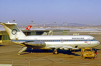 Quebecair - Quebecair BAC One-Eleven at Montreal Dorval in 1971