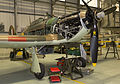 BBMF's Hurricane LF363 with it's panels removed for maintenance, showing the mighty Merlin Engine. MOD 45158883.jpg