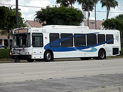 "A BCT bus in the current ""Breeze"" livery"