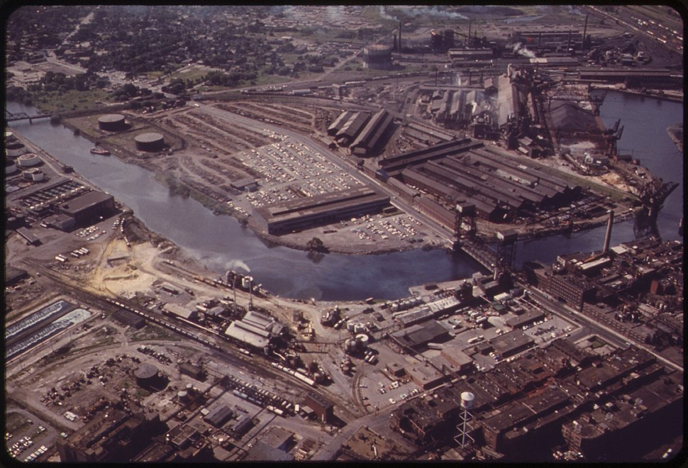 BETHLEHEM STEEL PLANT AT LACKAWANNA ON LAKE ERIE, JUST SOUTH OF BUFFALO - NARA - 549494