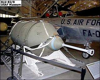 BLU-82 unguided aerial bomb