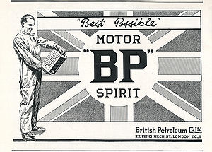 BP - A BP Motor Spirit advertisement from 1922
