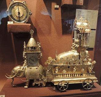 Chariot clock - Automaton clock, Augsburg 16th century. It is believed it was a gift to Tzar Ivan the Terrible.