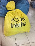 Bag full of items received from Turkish Post by India Post, General Post Office, Bengaluru 02.jpg