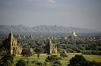 Myanmar - Pagodas and kyaungs in present-day Bagan, the capital of the Pagan Kingdom.