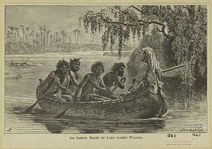 Lake Albert (Africa) - Image: Baker Lake Albert 1861