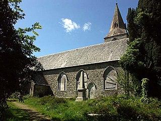 Baldhu village in the United Kingdom