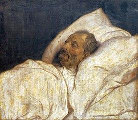 Balthasar I Moretus on his death bed