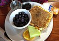 Banana bread French toast with blueberries (35504201734).jpg