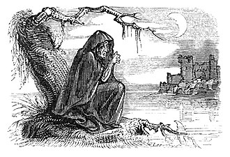 "Death (personification) - Bunworth Banshee, ""Fairy Legends and Traditions of the South of Ireland"", by Thomas Crofton Croker, 1825"
