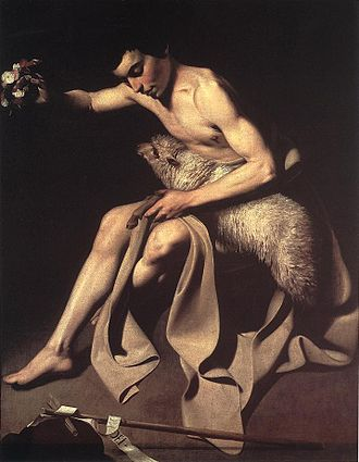 Paintings attributed to Caravaggio - John the Baptist. Date unknown. Öffentliche Kunstsammlung, Basle
