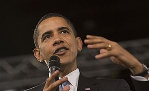 President Barack Obama at a town hall meeting ...