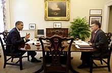 Barack Obama meets with Abdullah II of Jordan at the White House 4-21-09