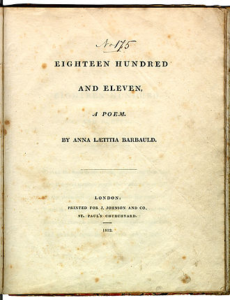 Eighteen Hundred and Eleven - Original title page from Eighteen Hundred and Eleven