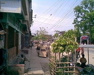 Barpeta Town in Assam, India